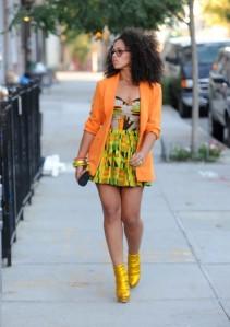 Elle-Varner-J-Cole-Video-Patricia-Field-African-Print-Dress-530x753